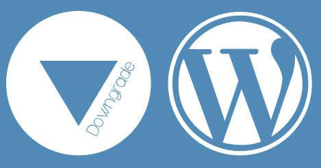 How To DOWNGRADE WordPress Version