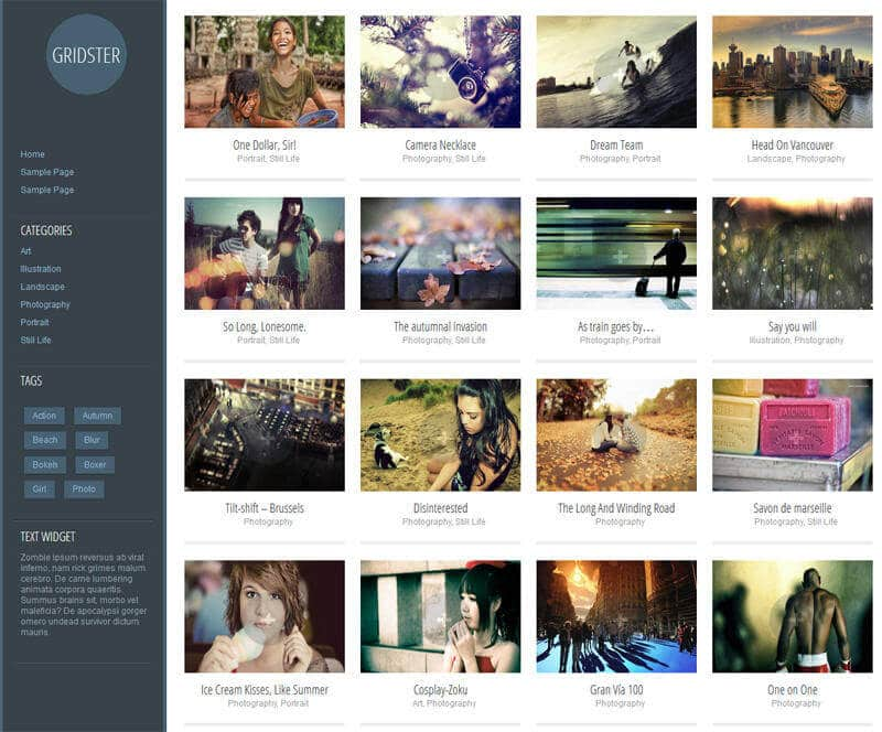 2-Free-Grid-structured-WordPress-Theme