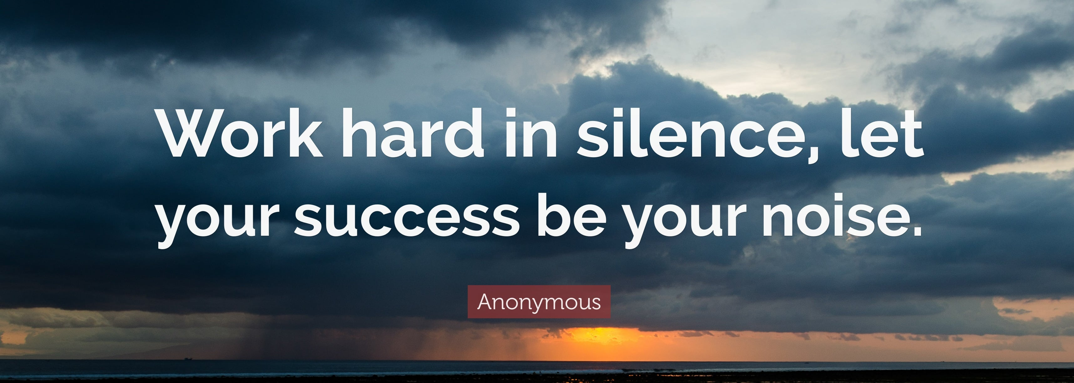 18846 Anonymous Quote Work hard in silence let your success be your