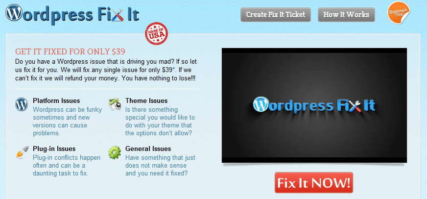 Wordpress Support Made Easier – New Design