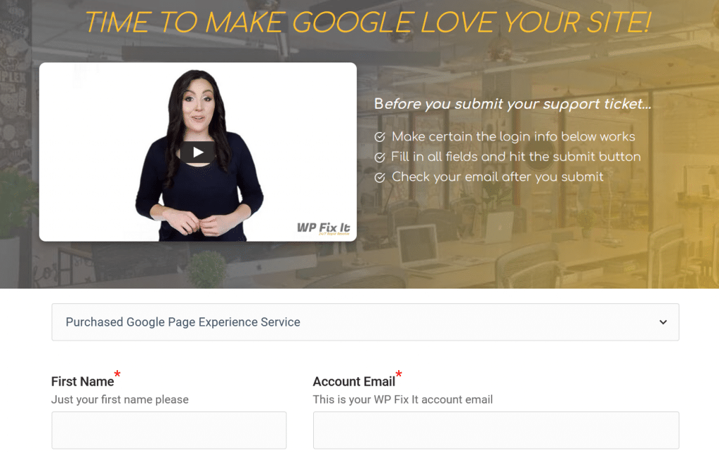Google Page Experience Service Buy