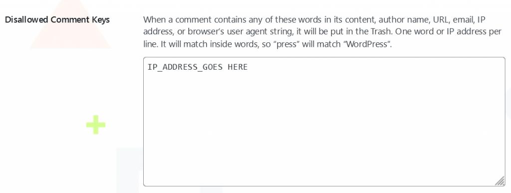 Block IP Address Comments