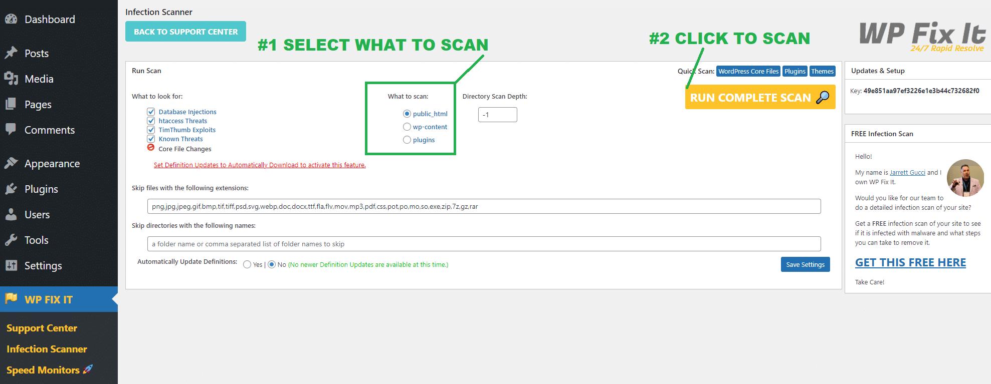 WordPress Infection Scanner 4